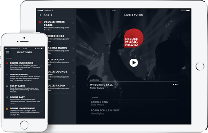 Screenshot preview of DELUXE MUSIC APP